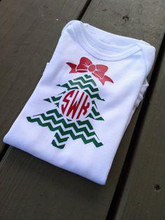 Girl's Christmas Shirt Baby Christmas Onesie by CreativeCutsVinyl