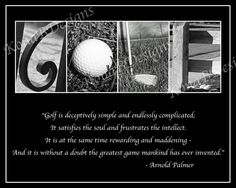 GOLF Photo Alphabet Print with Arnold Palmer Quote - 8x10. $20.00, via Etsy.