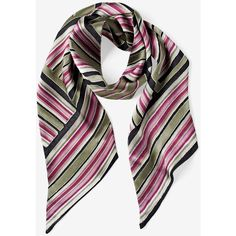 White House Black Market Stripe Mini Scarf ($44) ❤ liked on Polyvore featuring accessories, scarves, white house black market, striped scarves and striped shawl