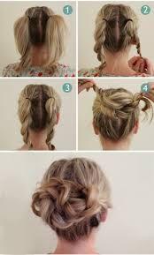 40 Quick And Easy Updos For Medium Hair - Hair & Beauty - Frisuren 5 Minute Hairstyles, Hair Day, Bad Hair, Race Day Hair, Hair Lengths, Hair Hacks, Hair Inspiration, Curly Hair Styles, Updo Styles