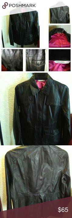 """""""BRAND NEW"""" GENUINE LEATHER ISSAAC MIZRAH JACKET! OMG!!! This is a BEAUTIFUL BRAND NEW (no tickets)  GENUINE LEATHER DESIGNER JACKET. Done in black leather and LUXURIOUS HOT PINK LINING. PERFECT! *I CONSIDER """"BEST OFFERS"""" NOT RIDICULOUS OFFERS!... *I also """"TRADE"""" QUALITY MERCHANDISE. Isaac Mizrahi Jackets & Coats Blazers"""