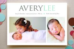 Little Flower Birth Announcements by Emily Ranneby at minted.com