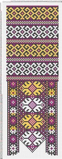 lovely folk pattern - cross stitch - kreuzstich - ponto cruz - punto cruz - kanaviçe - çarpı işi - etamin