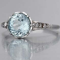 Aquamarine Engagement Ring / Special Order. ~Okay so I don't usually post wedding things, but if I were to get married ever, this is it!! -Natalya