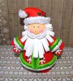 Quilling art père Noël ornement jouet 3D quilling Noël souvenir décoration hiver…