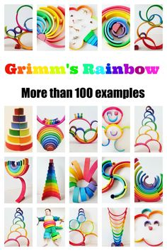 More than 100 waldorf open end play examples of how to play with the wooden grimm's rainbow. Not only for pre-schoolers but all ages. - Mamaliefde.nl