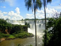 "The name ""Iguazu"" comes from the Guarani or Tupi words ""y"", meaning ""water"", and ""ûasú ""[waˈsu], meaning ""big"" Legend has it that a god planned to marry a beautiful woman named Naipí, who fled with her mortal lover Tarobá in a canoe. In rage, the god sliced the river, creating the waterfalls and condemning the lovers to an eternal fall  ....................................                  Misiones - Argentina  ..............                            Paraná - Brasil...."