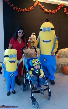 Anthony: The Cabello family as the Minions and Scarlett Overkill. Since the minions movie was so big in the summer, we thought we'd do a family theme. Dad is the tall...