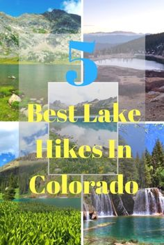 Colorado has many beautiful lake hikes. It can be hard to drive to each, but we have constructed a list of our 5 favorite lake hikes in Colorado. Colorado Hiking, Colorado Mountains, Colorado Lakes, Colorado Springs, Manchester Travel, Rocky Mountain National Park, National Forest, West Coast Trail, Utah Hikes