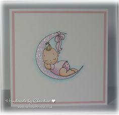 Baby Girl Card Digi Darla Blessings from Heaven
