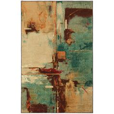 Florencia Aqua Area Rug from Wayfair Add a hint of luxury to your home with Florencia rug. The abstract design in a burst of colours on this rug blends well with any decor and offers a touch of modern elegance to your home