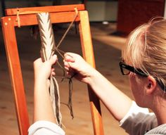 Learn the basics of finger weaving. 2014 workshop at The Canadian Canoe Museum in Peterborough, Ontario.