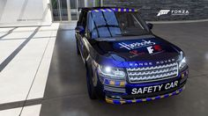 Front view of the Range Rover F1 safety car.