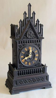 Large antique shelf cuckoo clock. Germany circa 1850