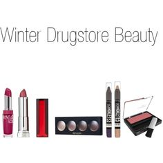 """Winter Drugstore Beauty"" by pearluxe on Polyvore"