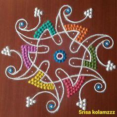 3d Rangoli, Colour Rangoli, Rangoli Designs Diwali, Indian Rangoli, Kolam Designs, Simple Rangoli, Cat Videos For Kids, Latest Rangoli, Muggulu Design