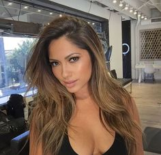WEBSTA @ jessicaburciaga - A little soft glam yesterday by @lyndsayzmakeup | New hair by @tauni901  @ninezeroone