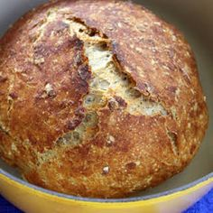 Multigrain No Knead Bread Recipe Artisan Bread Recipes, Dutch Oven Recipes, Bread Machine Recipes, Cooking Recipes, Flour Recipes, Pasta Recipes, Knead Bread Recipe, No Knead Bread, Yeast Bread