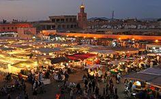 Morocco, Marrakech, jemaa el fna at night