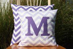 Lavender Monogrammed Pillow Cover - Kid/Nursery Sized - 14x14 by nest2impress on Etsy https://www.etsy.com/listing/166446722/lavender-monogrammed-pillow-cover