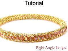 Right Angle Weave RAW Bangle Bracelet Jewelry Making Beading Pattern Tutorial