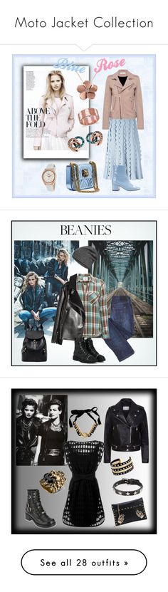 """""""Moto Jacket Collection"""" by yaschy ❤ liked on Polyvore featuring VIVETTA, IRO, Links of London, Dorateymur, Allurez, Rotary, BillyTheTree, rose, goldenrose and Dylan"""