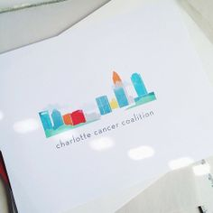 Logo just finished for an AMAZING new non-profit in NC: housing and support for patients undergoing treatment. Custom illustration of the Charlotte skyline. Client goals: An approachable design that feels warm and friendly and represents the city.