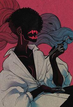 illustration / character design - art tag is just Art Inspo, Inspiration Art, Arte Horror, Horror Art, Horror Films, Bel Art, Art Anime, Art Et Illustration, Tattoo Illustrations