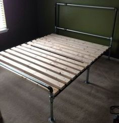 How To Build A Bed Frame Out Of Metal Pipe!: