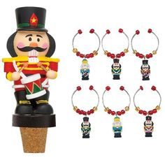 Boston Warehouse Nutcracker Wine Charm and Stopper Set by Boston Warehouse. $12.99. Hand wash recommended. Set of 6 charms attached to metal rings and 1 bottle stopper. Hand painted earthenware. Arrives in gift box. By Boston Warehouse creative ideas for home entertaining. The Boston Warehouse Nutcracker series is filled with culinary treats to keep your holidays fun and entertaining. These sweet wine charms are perfect for your next holiday party. The 1-inch,...