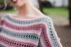 THNLife - Serendipity Poncho Crochet Pattern   Jessica Carey