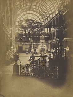 Interior of Crystal Palace, London, 1851 - a fantastic glimpse of how magnificent the Great Exhibition must have been. I would have loved to have gone - I wish I could time travel!! via http://www.aboutbritain.com