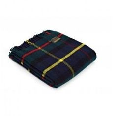 Hunting MacLeod Tartan Knee Rug in Pure New Wool . . Sold by TartanPlusTweed.com A family owned kilt and gift shop in the Scottish Borders