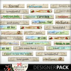 Travel Wood Tags