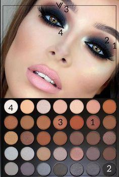 W/ morphe palette Makeup Goals, Love Makeup, Makeup Inspo, Makeup Inspiration, Morphe Eyeshadow, Eyeshadow Makeup, Eyeshadows, Morphe 35o, Makeup Palette