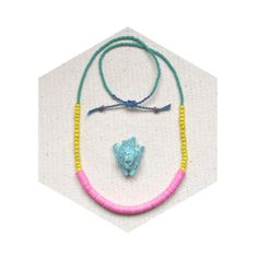 HALF OFF The Calypso Necklace - African trade beads and Czech glass in a modern palette