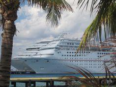 Cruise ships docked at Cozumel.