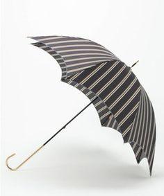 【WEB限定商品】マニッシュストライプ長雨傘(長傘) Paradise Picnic(パラダイスピクニック)のファッション通販 - ZOZOTOWN