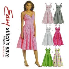 Retro Woman's Fitted Halter Dress Sewing Pattern  McCalls