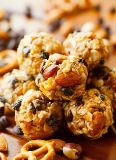 20. Trail Mix Energy Bites #healthy #energy #bites http://greatist.com/eat/energy-bites-recipes-for-on-the-go-snacking