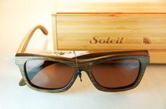 Bamboo Sunglasses Eco Friendly Eyewear HD by SoleilBambou on Etsy, $49.99