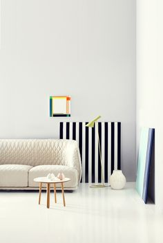 Graphic prints and vivid colours with the AJ Floor Lamp in green http://www.nest.co.uk/product/louis-poulsen-aj-floor-lamp
