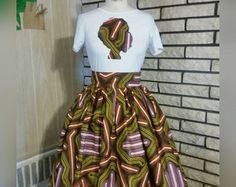 The. ANGELINA Belle Skirt Set made from African by LiLiCreations