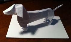 Origami sausage dog!