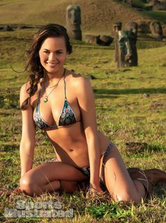 Christine Teigen – Sports Illustrated 2013 Swimsuit - 892 × 1200 - sizes. photographed by David Burton in Easter Island, Chile. Swimsuit by Beauty & the Beach.