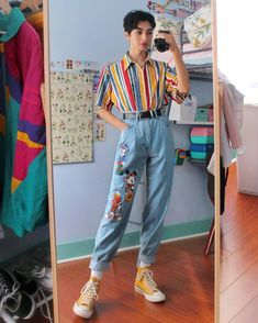 """4aec4a99140 alex 🦋🌻♂ on Instagram: """"which outfit do you prefer? :) • jeans are from  ebay & i looked up"""