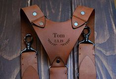 Brown Suspenders, Leather Suspenders, Wedding Suspenders, Leather Men, Brown Leather, Natural Leather, Leather Craft, Etsy, Initials