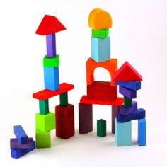 Grimm's 30 piece Colored Wood Blocks