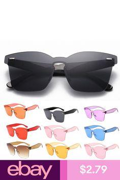 Fashion Women Men Clear Retro Sunglasses UV400 Square Frameless Eyewear  Glasses ffb8ff5a902d