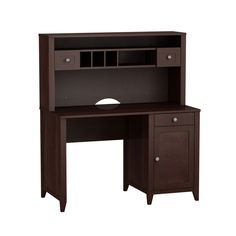Have to have it. kathy ireland Office by Bush Furniture Grand Expressions 48 in. Single Pedestal Desk with Hutch - $659.99 @hayneedle